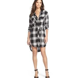 Rails Nadine  plaid tunic dress with tie belt